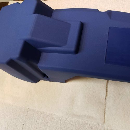 Profile View of Husqvarna 288xp High-Top Covers Blue